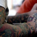 Tatouage - bras tatoué - tatouage dragon