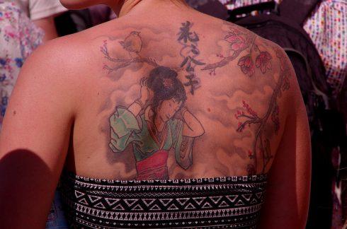 Tatouage - Tatouage dos - Tatouage estampe japonaise