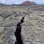 Volcan - Montana colorada - Volcan rouge Lanzarote - Champ de lave Lanzarote - iles Canaries