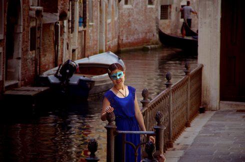 Venise - Canal - Masque vénitien