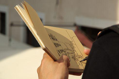 Venise - Carnet de dessin - Esquisse