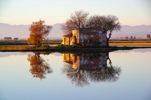 Pentax K5II - delta de l'ebre - miroir - reflet - fleuve - catalunya - catalogne - unesco