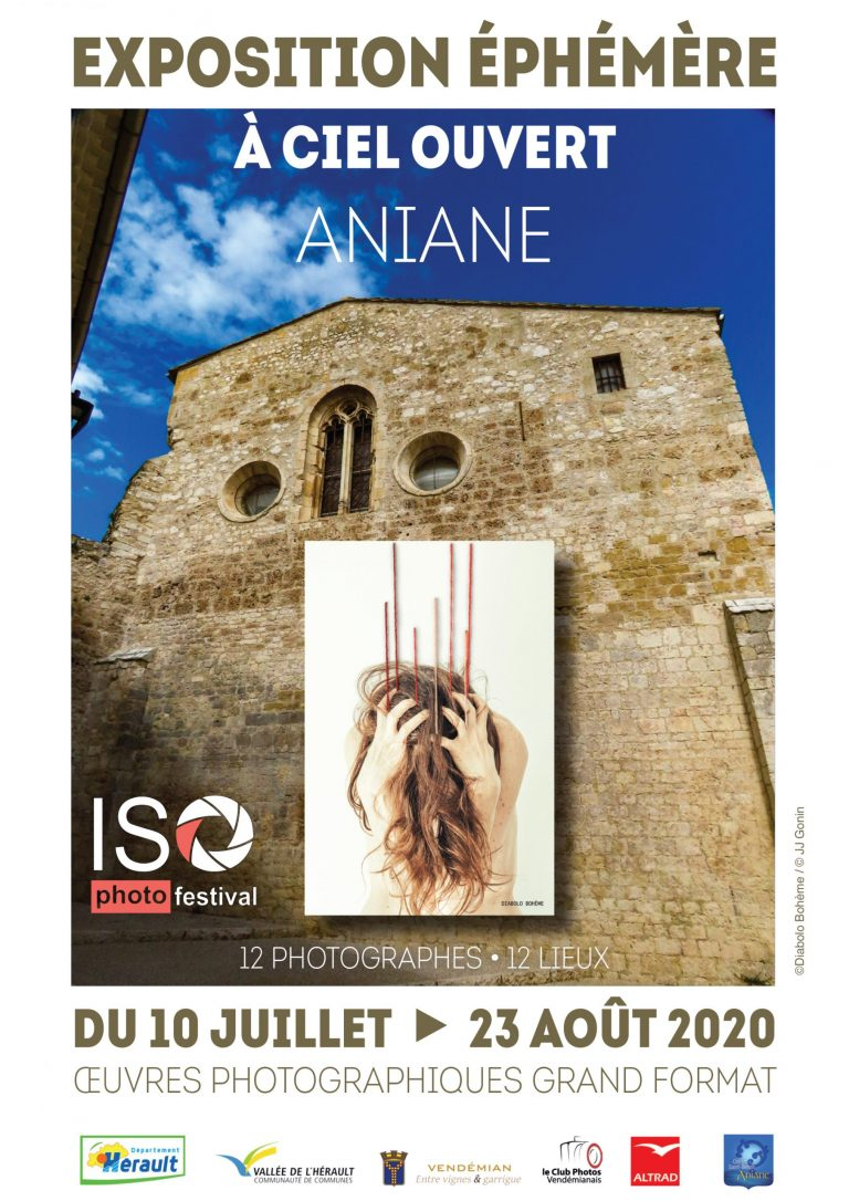 festival iso - regards - déambulation photographique - aniane - hérault - occitane - culture - ciel ouvert - patrimoine